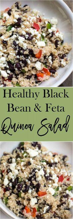 Get the recipe Healthy Black Bean and Feta Quinoa Salad @recipes_to_go