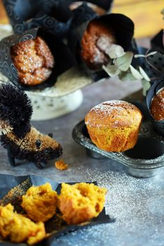 Frankó őszi süti: sütőtökös muffin | Street Kitchen Baked Potato, Cauliflower, Muffins, Food And Drink, Favorite Recipes, Sweets, Cookies, Baking, Vegetables