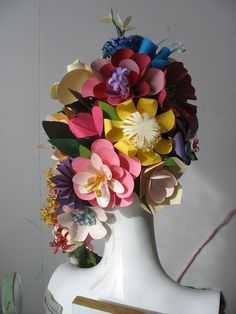 Grace Designs: Paper Flower Headpieces by Eloise Corr Danch No how to, this is for inspiration.