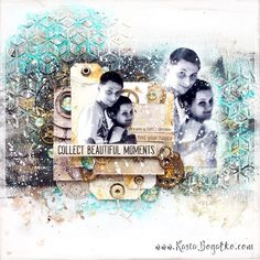 created by Kasia Bogatko: Find your happy - mixed media on wood