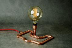 BOA Copper Lamp__Kupfer Lampe BOA