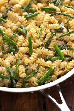 Easy to make lemon mascarpone pasta as a main meal or a side. With sauteed asparagus, lemon mascarpone pasta is loaded with lemon zest, juice, and garlic.