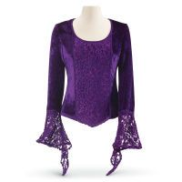 Royal Velvet and Lace Top