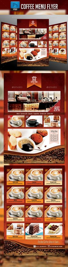 Coffee Shop Menu Coffee shop menu, Coffee shop and Menu - coffee shop brochure template