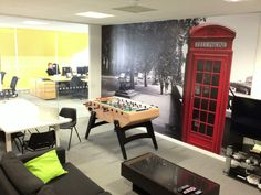 Creative Office Branding using wall graphics from Vinyl Impression,