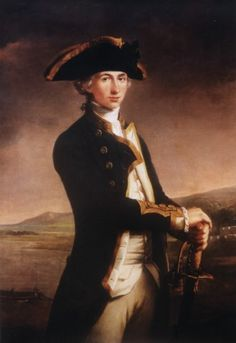 Vice-Admiral of the White, Horatio Nelson, 1st Viscount Nelson  (He's probably been featured before, but the more the merrier!)  Granted, this is an early portrait from when Nelson was just a young captain, but the man was adorable till the day some French bastard fatally shot him through the spine at Trafalgar. Look at that face. What a doll. Where Wellington's (another historical hottie) supremacy was on land, Nelson's was at sea. He was a visionary captain and admiral, inspire