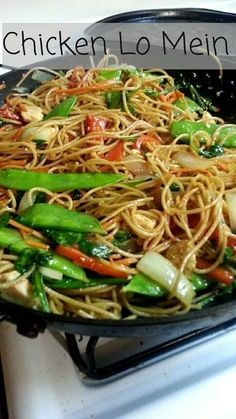 Chinese food made at home! This dish was so fast and easy, it is a great choice for a busy weeknight dinner. This lo mein could easily be made with steak or shrimp instead of chicken, and is a grea… #chickenfoodrecipes
