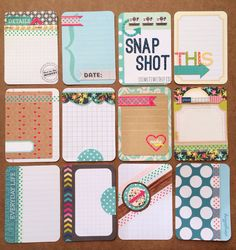 I really want to get or make some project like cards. I think they are the cutest and they look really good for a scrapbook maybe.
