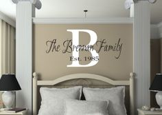 wood sign family name est date | 22.99 | Gorgeous Family Name Monogram!
