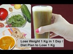 How to Lose Weight 1 Kg in 1 Day / Diet Plan to Lose Weight Fast 1 Kg in...