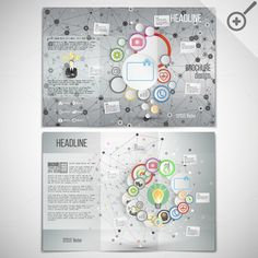 Vector set of 8 tri-fold brochures by VectorShop on Creative Market