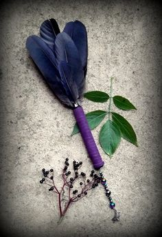 Crow Feather Smudge Fan
