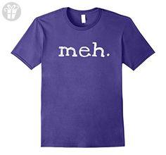Mens Meh Attitude Funny Geek Sarcastic Expression Shirt Small Purple - Funny shirts (*Amazon Partner-Link)