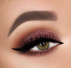 einfache Glitzer Augen MakeUp-Ideen