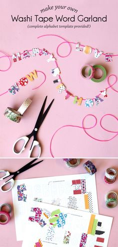 Washi tape designs give a personalized style to your favorite things! Check out this roundup of 100 washi tape ideas to try. Diy Washi Tape Crafts, Duck Tape Crafts, Easy Diy Crafts, Diy Craft Projects, Fun Crafts, Paper Crafts, Craft Ideas, Decorating Ideas, Decor Ideas