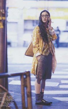 It's easy to see why Yu Aoi is a shoo-in for the mori girl title. From her quirky film choices to her whimsical persona, Yu Aoi doesn't seem. Japanese Streets, Japanese Street Fashion, Asian Fashion, Women's Fashion, Yu Aoi, Mori Girl Fashion, Forest Girl, Poses, Japanese Girl