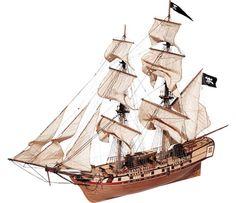 Build The Historic Corsair - Model Pirate Ship, Wooden Model Ship Kit by OcCre Model Ship Kits Wooden Model Boat Kits, Wooden Model Boats, Scale Model Ships, Scale Models, Model Ship Kits, Model Ship Building, Hobbies For Men, Model Maker, Wooden Ship