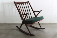 love love love danish modern rocker bramin mobler frank reenskaugh teak rocking chair mid. Black Bedroom Furniture Sets. Home Design Ideas