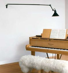 213 Vägg, Lampe Gras (french classic designed by Bernard-Albin Gras Handmade in original factory in France Wall Design, House Design, Painted Pianos, Dcw Editions, Piano Lamps, Lampe Gras, Illuminated Signs, Lampe Applique, Lighting Concepts
