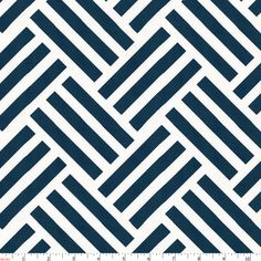 Basketweave Print in Navy and White by Carousel Designs.