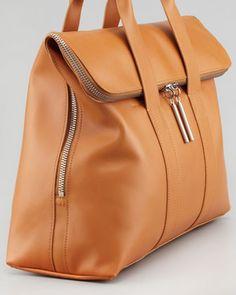 Awesome diaper bag!  3.1 Phillip Lim 31-Hour Fold-Over Tote Bag, Camel - Bergdorf Goodman