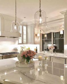 Kitchen decor and kitchen ideas for all of your dream kitchen needs. Modern kitchen inspiration at its finest. Home Decor Kitchen, Kitchen Interior, New Kitchen, Kitchen Ideas, Cheap Kitchen, Coastal Interior, Eclectic Kitchen, Kitchen Corner, Gray Interior