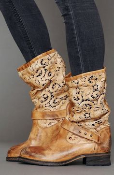 Adorable stunning crochet beau boot fashion style