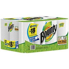 Case of Bounty Paper Towels : Only $13.99 (reg. $25.99)  http://www.mybargainbuddy.com/case-of-bounty-paper-towels-only-13-99