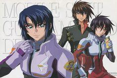 Gundam Seed Destiny poster promo Kira Yamato Athrun Zala Shinn Asuka