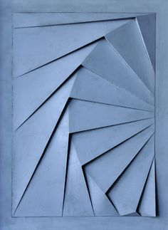 Optical Disturbances – Bas Relief Artworks by Benjamin Plé – OEN – Paper Art Ideas / Sztuka z Papieru Pomysły – origami Architecture Origami, Tropical Architecture, Paper Structure, Fractal, Paper Crafts Origami, Origami Design, Geometric Wall, Geometric Form, Paper Folding