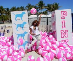 Lissette Rondon having a ball at PINK's pool party!