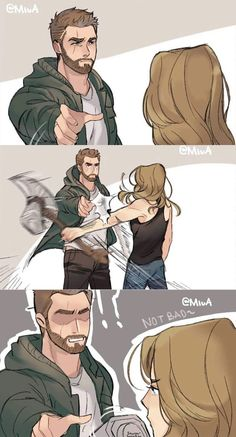 """From trailer I call it """"thor & carol lost scene"""" by Yoru Akira on twitt… - Marvel - Game of Thrones Funny Marvel Memes, Avengers Memes, Marvel Jokes, Marvel Dc Comics, Marvel Heroes, Marvel Characters, Marvel Avengers, Tom Holland, Marvel Cinematic Universe"""