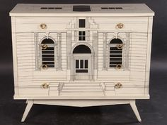 GOOD FORNASETTI STYLE FOUR DRAWER COMMODE : Lot 0047