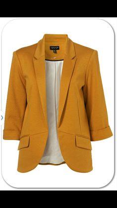 TOPSHOP Mustard blazer.  Fall Necessity! !