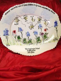 Fingerprint Art Platter