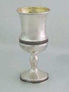 Sterling silver handmade filigree wine goblet by STUBSILVERWARE on Etsy