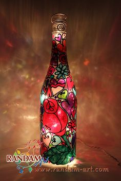 Bohemian style hearts flowers and swirls and rose by RandamArt