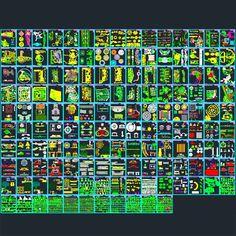 Landscape design Collection- designs, symbols and details for landscaping (AutoCad DWG file) | Architecture for Design