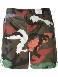 VALENTINO Camouflage Swim Shorts. #valentino #cloth #shorts