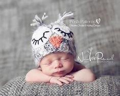 Crochet Hat PATTERN - Easy Owl Baby Hat Crochet Pattern - Instant Download PDF 109 - Newborn to Adult - Photography Prop Pattern on Etsy, $3.99