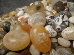 Oregon beach agates, went agate hunting this weekend and found loads of them at Netarts Or. with Mrs. Dagger