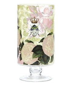Flower Bee Pedestal Glass Vase #zulily #zulilyfinds