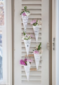 French May Day Flower Cones   Printable
