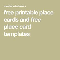 free printable place cards and free place card templates