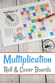 Super Hero Themed Multiplication Roll and Cover