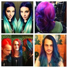 Multiple hair colors