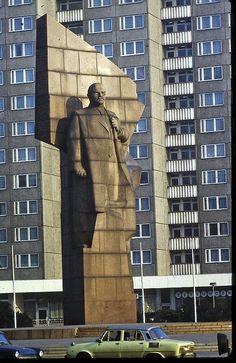 "East Berlin - February 1982 - Leninplatz now called ""Platz der Vereinten Nationen"" (United Nations Square)"