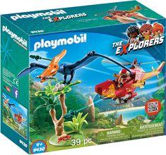Köp Playmobil 9430 Helikopter Med Flygosaurus på Jollyroom.se - Alltid fri frakt över 1 000 kr - Prisgaranti - 365 dagars öppet köp Play Mobile, Playmobil Zoo, Playmobil Sets, Amazon Delivery, Plastic Container Storage, Young Animal, Baby Jogger, Disney Films, Jurassic World