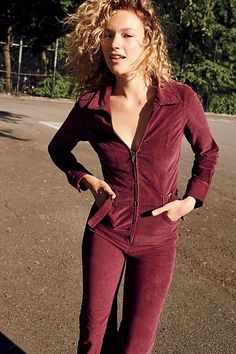 ec0fcfa9d52f Take Me Out Cord Jumpsuit - Maroon Corduroy Zip Front Jumpsuit Take Me Out