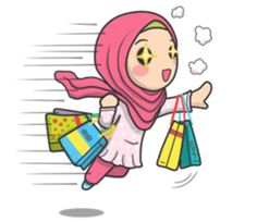 Flower Hijab 2 by Imran Ramadhan sticker Cartoon Pics, Cute Cartoon, Cartoon Art, Hijab Barbie, Islamic Cartoon, Pop Stickers, Anime Muslim, Hijab Cartoon, Diy Crystals